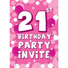 21st birthday invitation cards pink sparkle small woospartyzone ie