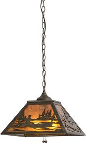 meyda 116147 canoe at lake rustic antique copper amber mica hanging pendant light loading zoom