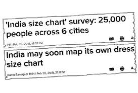 An India Size Chart What Does It Mean And Why Do We Need