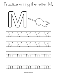 Kindergarten Writing Pages Trace Letter M Ohye Mcpgroup Co