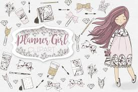 Planner Girl Clipart Graphic Design Templates Resources Free
