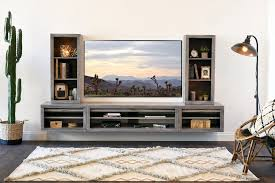 gray entertainment center. Gray Floating TV Stand Modern Wall Mount Entertainment Center ECO GEO Lakewood For
