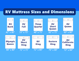 rv mattress sizes and dimensions with