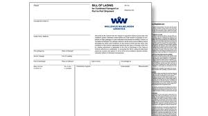 Example Of Bill Of Lading Document What Is A Negotiable Bill Of Lading Wallenius Wilhelmsen