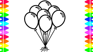 Coloring Pages Free Balloon Coloring Pages For Kids Partye