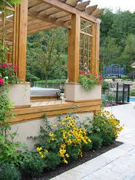 potted plants patio outdoor garden ideas landscaping idea plant garden large outdoor containers for plants land