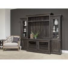 Weathered Brown 4 Piece Rustic Entertainment Center  Bellamy Rustic Entertainment Center E37