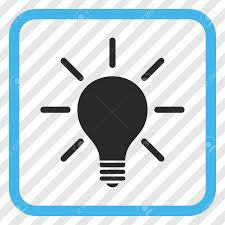 vector square blue icon lighting bulb. Light Bulb Blue And Gray Vector Icon. Image Style Is A Flat Iconic Symbol Inside Square Icon Lighting U