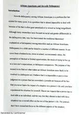 juvenile delinquency essay on broken homes generated by camscanner 3 pages juvenile delinquency essay on african americans