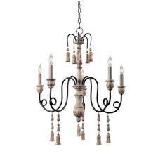 alexandra 5 light white chandelier
