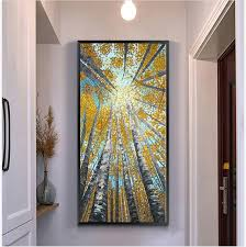 vertical wall art custom large vertical modern painting decorative pictures abstract art inspiration