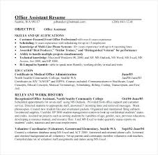 Office Assistant Resume Classy Sample Resume For Medical Office Assistant Sample Professional Resume