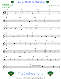 Clarinet Finger Chart Mary Had A Little Lamb Take Me Out To The Ball Game For Clarinet Free Sheet Music
