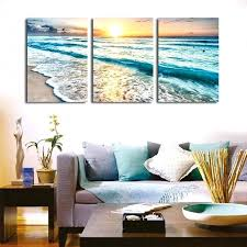 triptych wall art seascape sunset triptych wall art 3 piece sea waves photography painting set prints triptych wall art
