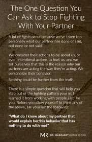 The One Question You Can Ask To Stop Fighting With Your Partner