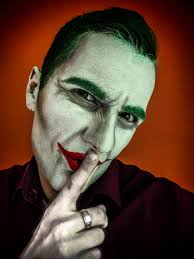 self self first try to do a joker makeup on myself