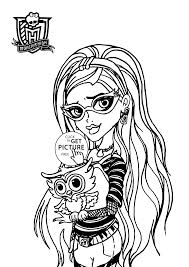 Ghoulia Yelps Monster High Coloring Page For Kids For Girls