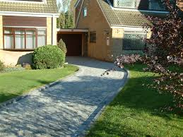Block Paving Ideas, Marshalls Drivesett Tegula Driveway, Pennant Grey  #BlockPaving #Driveways #