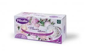 Салфетки <b>Plushe</b> бумажные в коробочках 100 листов 2 слоя ...