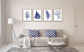 ferns print fl decor set of 4