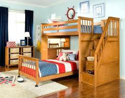 bunk bed and desk here we have an elegant natural wood with a set of stairs