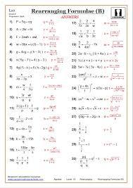 rearranging maths worksheet rearranging answer
