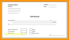 Paid Receipt Template Word Payment Receipt Template Doc Cash