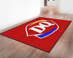 custom logo rugs. Dairy Queen Indoor Custom Logo Mat Floor Mats Brand Diplomat Auto Car House Quality Rubber For Trucks Suv Factory Rugs Business Personalized Printed E