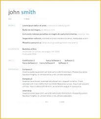 Simple Resume Template Word Impressive Simple Resume Template Word 28 Templates It Download Example Free