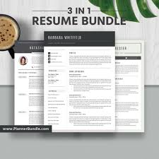 2019 Job Resume Template Modern Resume Bundle Cv Template Word Resume Creative Modern Resume Cover Letter Instant Download The Barbara Rb