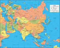 asia map and satellite image Map Of Asia Atlas asia political map map of asia to label