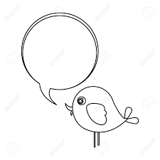 Animal Icon Silhouette Cute Cartoon Bird Animal Icon With Dialog Bubble Icon