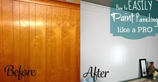 easily paint over wood paneling