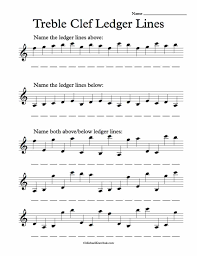 above and below worksheets. free treble clef ledger lines note recognition worksheet above and below worksheets