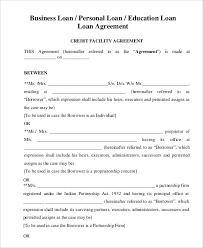 Free Loan Agreement Sample Loan Agreement beneficialholdings 17
