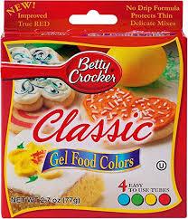 Betty Crocker Gel Food Color Blending Chart Betty Crocker Classic Gel Food Colors 4 Ct