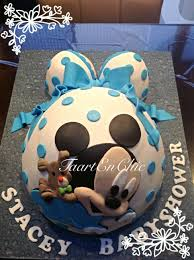 My Mickey Baby Shower  The Mousekatools MomBaby Mickey Baby Shower Cakes