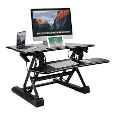 adjustable standing desk converter. Simple Converter BESTEK Height Adjustable Standing Desk Stand Up Converter Monitor  Riser With Keyboard TrayLift In