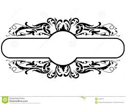 black frame. Black Frame With Floral Decoration, Vector Illustration. Abstract, Rectangle.
