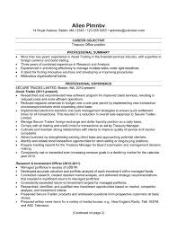 chronological resume sample treasury office copyright susan ireland-pg1