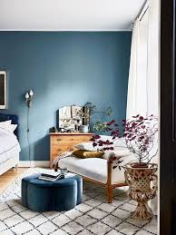 bedroom walls color. blue wall and daybed in the bedroom of beautiful stockholm home amelia widell - walls color t