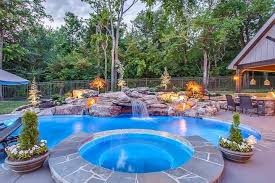 patio with pool. Brilliant Patio Completed Pool Spa And Water Feature For Pool Kings On DIY Network For With Patio