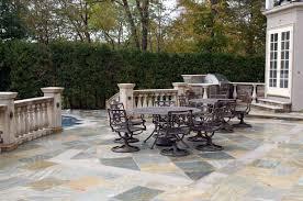 stone patio installation: gian buff outdoor patio with limestone inlay design installation nj how custom stone inlays elevate an