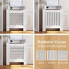 radiator cover white modern mdf wood