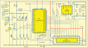 pic projects digital temperature controller electronics for you 2 circuit diagram of the digital temperature controller