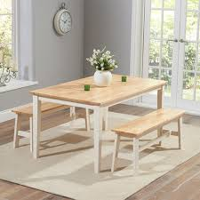 Kitchen Table With Bench Set Solid Oak Dining Table And Bench Set Thespaknowsley