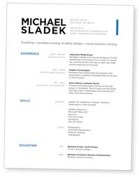 resume header design