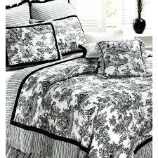 black and white toile bedding black duvet cover cotton quilt bedding and white king black white