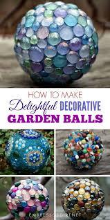 Decorating Bowling Balls Marbles Enchanting DIY Decorative Garden Art Ball Tutorial Empress Of Dirt