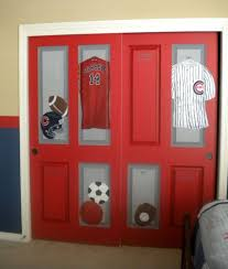 painted closet door ideas. Closet Of Lockers!, This Sports Room Was Created For A Very Athletic Boy, Who\u0027s Father Loves Chicago! I Painted Typical Doors To Look Like Red Door Ideas D